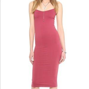 Free People Tea Length Seamless Slip Dress